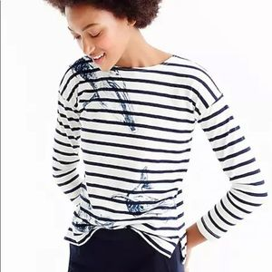 J Crew Garments for Good Whale Striped Tee Top
